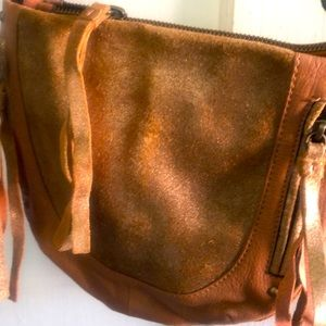 TANO small leather crossbody BOHO chic via Anthro